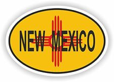 OVAL New Mexico STATE WITH FLAG USA STICKER AUTO MOTO TRUCK LAPTOP BIKE CAR