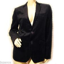 eb15420d91340f H&M Mens Black Tuxedo Blazer Suit Top Jacket 36 R Corduroy Collar Business  Suits