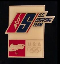 Shooting Olympic Pin Badge ~ Barcelona ~ 1992 ~ Sponsor ~ Coca Cola ~ US Team