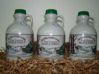 3 Quart Vermont Organic Maple Syrup (Ships as THREE 1 Quart bottles)