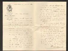 """SAINT-GEORGES-D'ORQUES (34) CHATEAU FOURQUES """"Hubert DESMAREST"""" en 1901"""