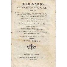 DIZIONARIO GEOGRAFICO PORTATILE di Brouckner 1800 2 volumi  Giuseppe Remondini