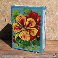 Vintage Original 1916 NASTURSHAM SEED Garden Flower Box UNUSED Empty Flat NOS