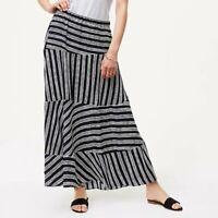 NEW NWT ANN TAYLOR LOFT Stripeblock Maxi Skirt Navy White Stripe High Low Small