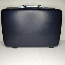 American Tourister Blue Suitcase Briefcase Combo Hard Shell Travel 2 8x17x23