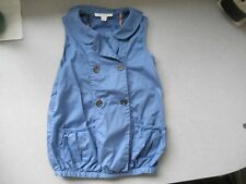 Burberry girls blue sleeveless blouse size 3Y
