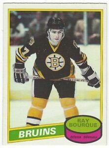 1980-81 OPC HOCKEY #140 RAY BOURQUE ROOKIE - NEAR MINT