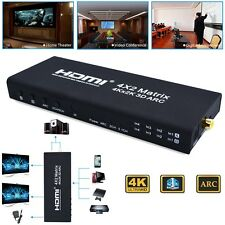 Hot 4x2 HDMI Matrix Switch Splitter Selector Remote Control 3D 1080P ARC TMDS