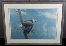 """Robert Bateman signed numbered print """"Air, Forest and the Watch"""" Bald Eagle 34"""""""