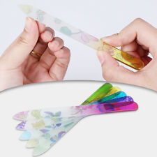 Crystal Glass Nail File Buffer Manicure Nail Art Practice Tool Random Pattern