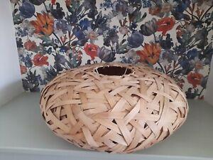 Lobster Pot Shade Bamboo Vintage Light Shade
