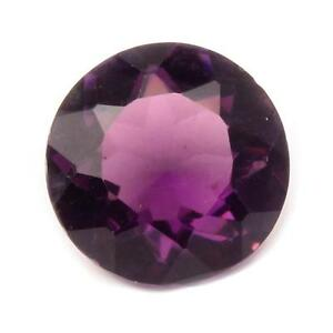 Large Czech Deco vintage round faceted amethyst glass rhinestone 23mm