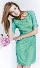 BODEN lace dress size 6R --BRAND NEW-- green contrast lining short sleeve