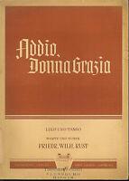 """Friedrich Wilhelm Rust :"""" Addio, Donna Gratia """" ~ (Lied und Tango)"""