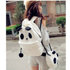 Fashion Women Girl Panda Mother & Baby Shoulder Backpack Bookbag Handbag Bag Set