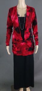 TALBOTS RED & BLACK SKIRT OUTFIT - SIZE 10