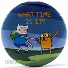 "BRAND NEW Adventure Time with Finn and Jake What Time Is It? 1.25"" Button"