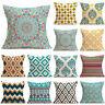 Newest Vintage Geometric Linen Cotton Pillow Case Cushion Cover Home Sofa Decor