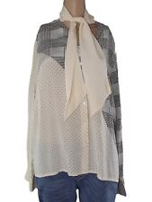 pierre cardin camicia donna avorio seta vintage taglia it 50 xxl extra large