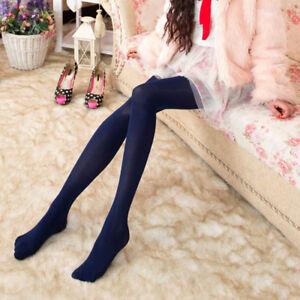 Women Ladies Girls Plain 120 Denier Tights Pantyhose Stockings Hosiery One Size