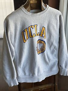 VTG USA Champion UCLA Sweatshirt Reverses Weave 80s Mens XL Cal Cali LA Fashion