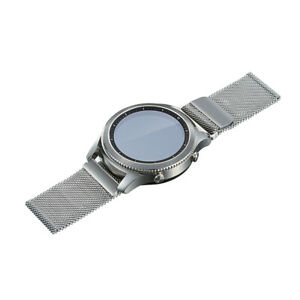 Universal Watch Mesh Loop Wrist Band Strap Magnetic Clasp Replacement Silver