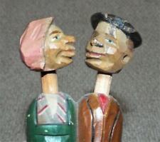 More details for vintage anri kissing couple mechanical wooden bottle stopper
