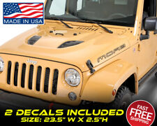 Moab Hood (2 Decals) Fits On Jeep Jl Jk Tj Yj Cj 4x4 Wrangler Sahara Rubicon