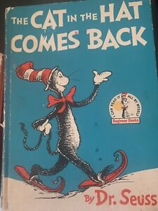 VINTAGE DR SEUSS THE CAT IN THE HAT COMES BACK HARDCOVER BOOK WITH DJ 1958