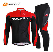 Men Long Sleeve Jersey&Pants Sets Cycling Bike Ropa Clothes Thermal Fleece M-XXL