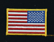 REVERSE USA FLAG TOP GUN RIGHT ARM HAT PATCH US ARMY MARINE NAVY AIR FORCE VET