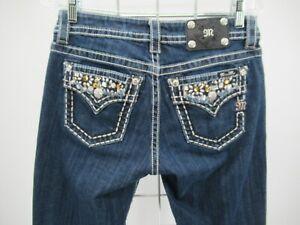 P1932 Miss Me Women's Crystal Pockets Boyfriend Capri Size 26