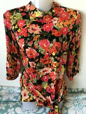 Women's ZARA TRF FLORAL PRINTED DRAPED SILKY TOP Size XS - brand new