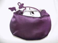 New York & Company Purple Clutch Purse Strap and Silver Handle NWT