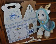 Build A Bear Golden Glisten Star Power Reindeer with Blue Starry Swirl Cape NEW
