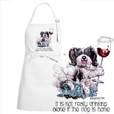 Havanese Dog Breed Cartoon Art Not Drinking Alone Kitchen Chef Apron