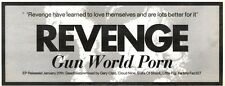 25/1/92Pgn08 Advert: Revenge New Single gun World Porn Factory Records 4x11