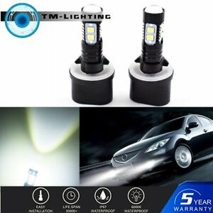 2x 880 899 50W  High Power 6000K White LED Projector Fog Lights Bulbs