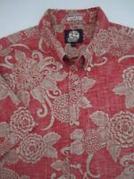 Mens Large Reyn Spooner Tailored Fit red hawaiian shirt