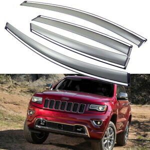 Car Window Visor Vent Deflector Sun/Rain Guard for Jeep Grand Cherokee 2011-2020