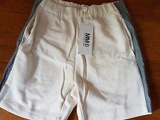 New MM6 Maison Martin Margiela Leather inserts Shorts White, M