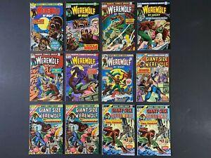 Run of (12) Werewolf by Night (1973-76) #11-38 + Giant Size #2-5 Marvel Comics