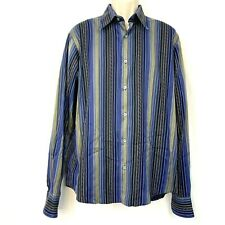 Ted Baker Striped Button Down Shirt S Blue Green Red Mens Small Dress Casual