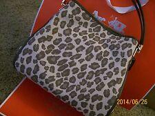 NWT COACH MADISON OCELOT JACQUARD SMALL PHOEBE SHOULDER BAG, 27908 CHESTNUT
