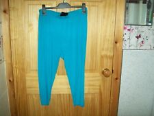 ***LOOK***NEW BLUE/AQUA 3/4 LEGGINGS  SIZE 18***