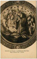 Firenze - La Madonna delle Rose Botticelli A. Filipepi, G. Pitti - FP B/N