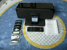 SONY SRS-GU10iP ACTIVE SPEAKER SYSTEM FOR iPOD & IPHONE - BOX, MANUAL & REMOTE