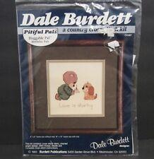 "Dale Burdett Pitiful Pals Huggable Pal ck307 Cross Stitch Kit vintage 1985 6""X6"""