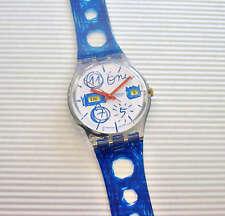 SIMPLE ART! Funky, Juvenile ART Swatch w Day/Date! NIB-RARE!