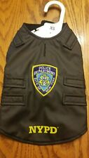 Royal Animals XS Dog Costume Vest NYPD City of New York Police Department Black